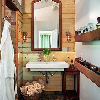 Petite salle de bain rustique salle de bain montagne Pinterest