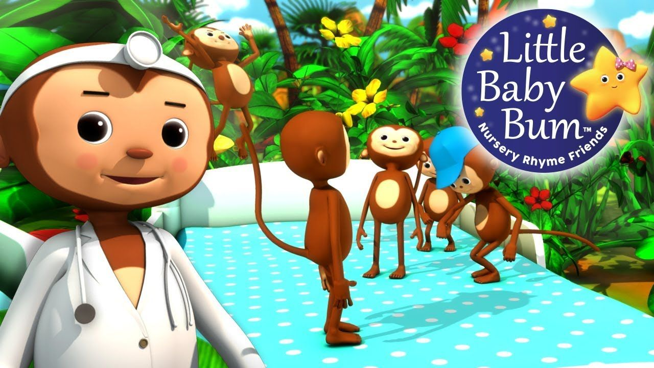 Five Little Monkeys Jumping On The Bed Part 2 Nursery Rhymes By Littlebabybum Youtube In 2020 Five Little Monkeys Nursery Rhymes Little Monkeys