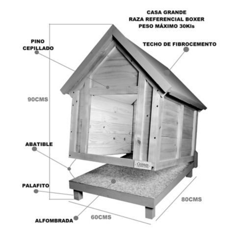 Inmobilaria Pet House for dog 80x60x90 cm- Inmobilaria Masco…