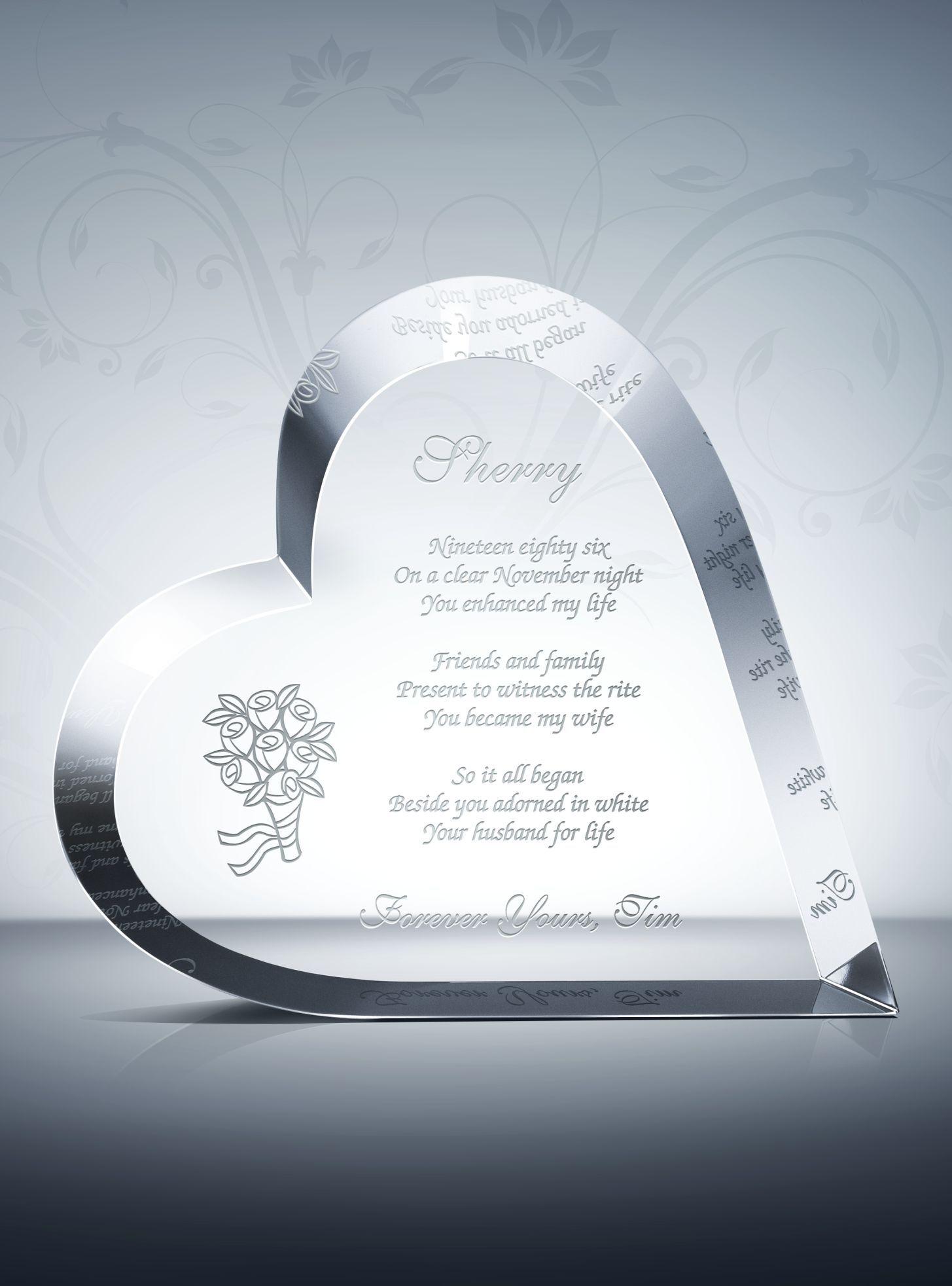 Crystal Heart Anniversary Gift Anniversary gifts