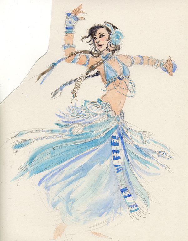 Tribal Belly Dancer By Jenjens Journey Deviantart Com On