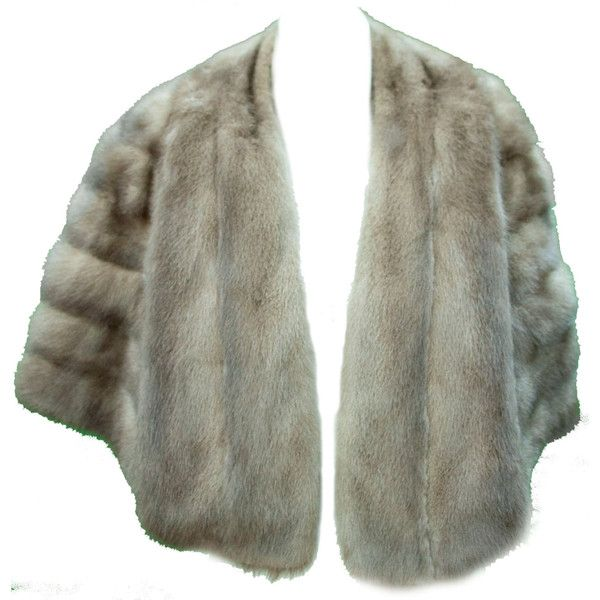 1950s One Size Gray Natural Stole Shawl Mink Fur Wedding Winter Bridal... ($128) ❤ liked on Polyvore featuring accessories, scarves, bridal stole, shawl scarves, mink shawl, grey shawl and tie scarves