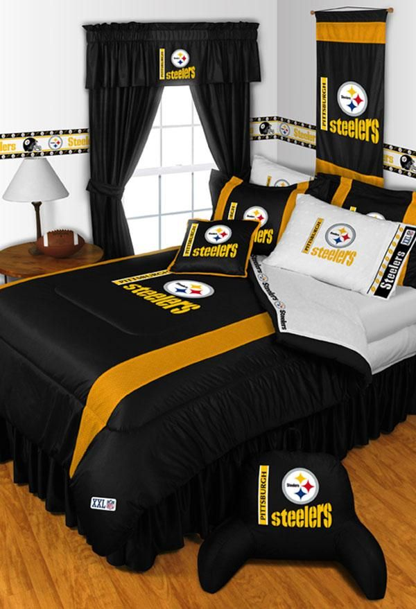One Nfl Pittsburgh Steelers Twin Comforter 63 X 86 Inches