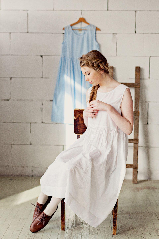 White Cotton Dress Modest Dress White Underskirt Plus Size Etsy Modest Dresses White Boho Dress White Cotton Dress [ 1440 x 960 Pixel ]
