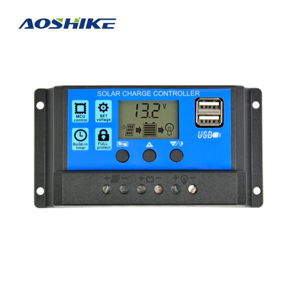 Solar Charge Controller 12V 24V 30A Automatic Solar Panel ...