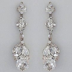 Dangling Triple Teardrop Earrings Bridal Chandelier Earringswedding