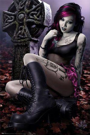 Dark gothic sex