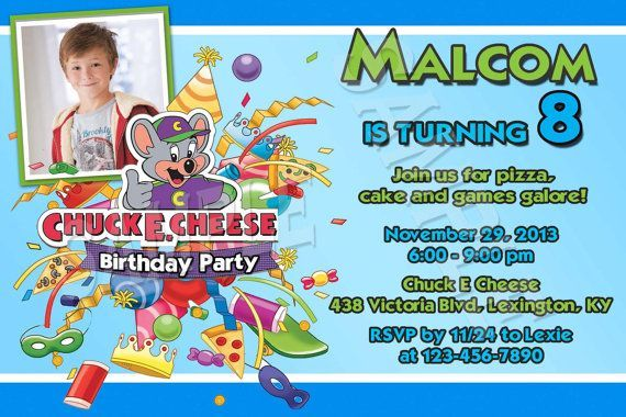 Cool FREE Template Chuck E Cheese Birthday Party Invitations Baby - Chuck e cheese birthday invitation template