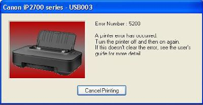 It News And Solutions How To Fix Error 5200 Of Canon Pixma Ip2770 Ip2772 Ip2870 Ip2872 Working 100 Printer Canon Huli