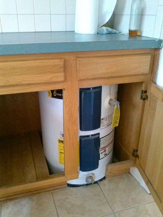 Water Heater In Kitchen Cabinet Or A One And Transfer To House