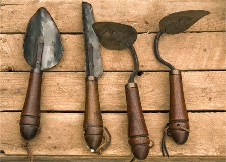 Large Shovel Garden Tools Hand Forged Trowel Blacksmith Made