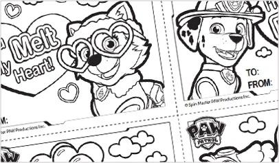 Free Printable Coloring Sheets Paw Patrol Friends Official Site In 2021 Paw Patrol Coloring Paw Patrol Coloring Pages Valentine Coloring Sheets
