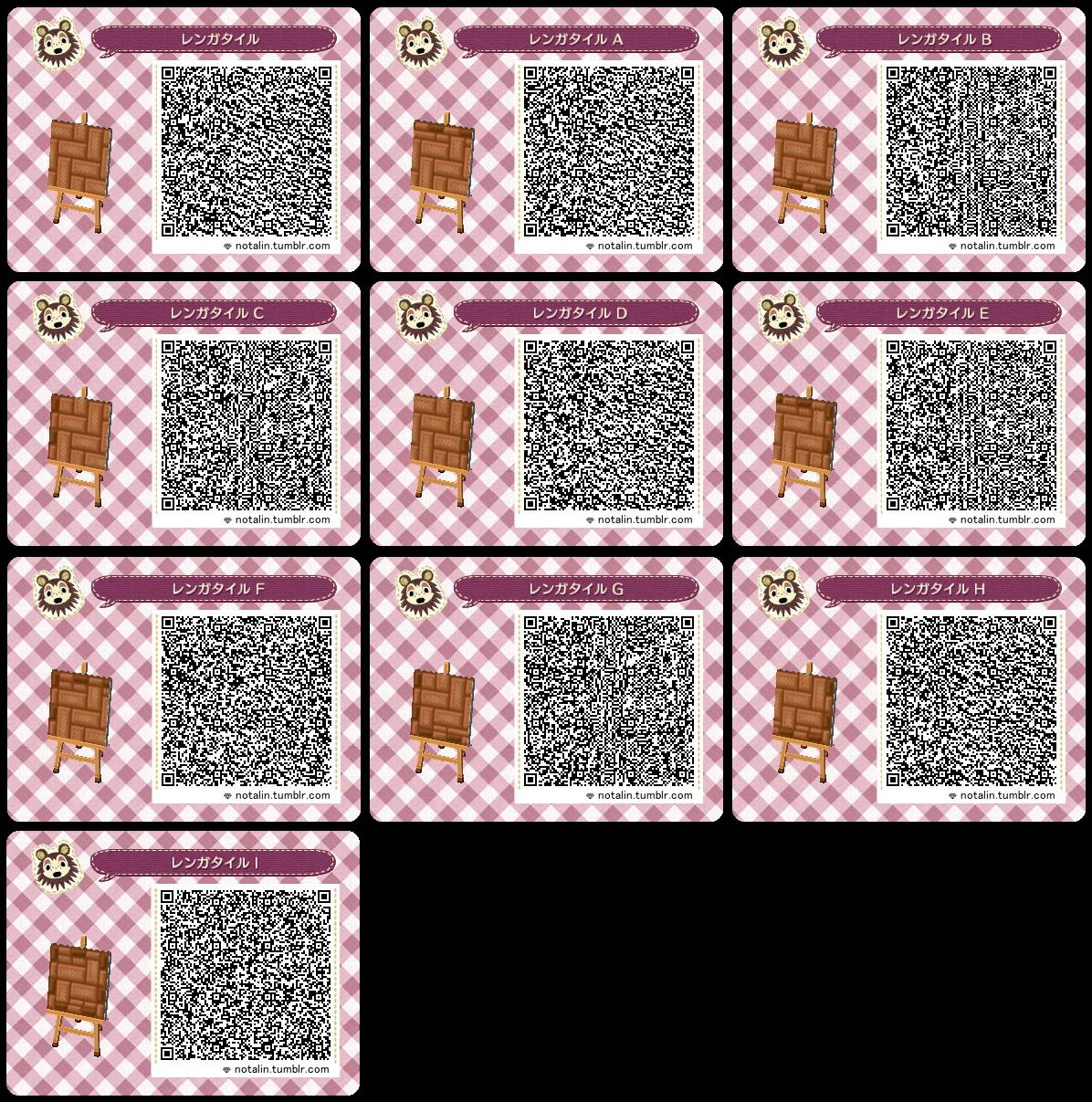 Animal Crossing New Leaf Qr Code Paths Pattern Notalin 品名