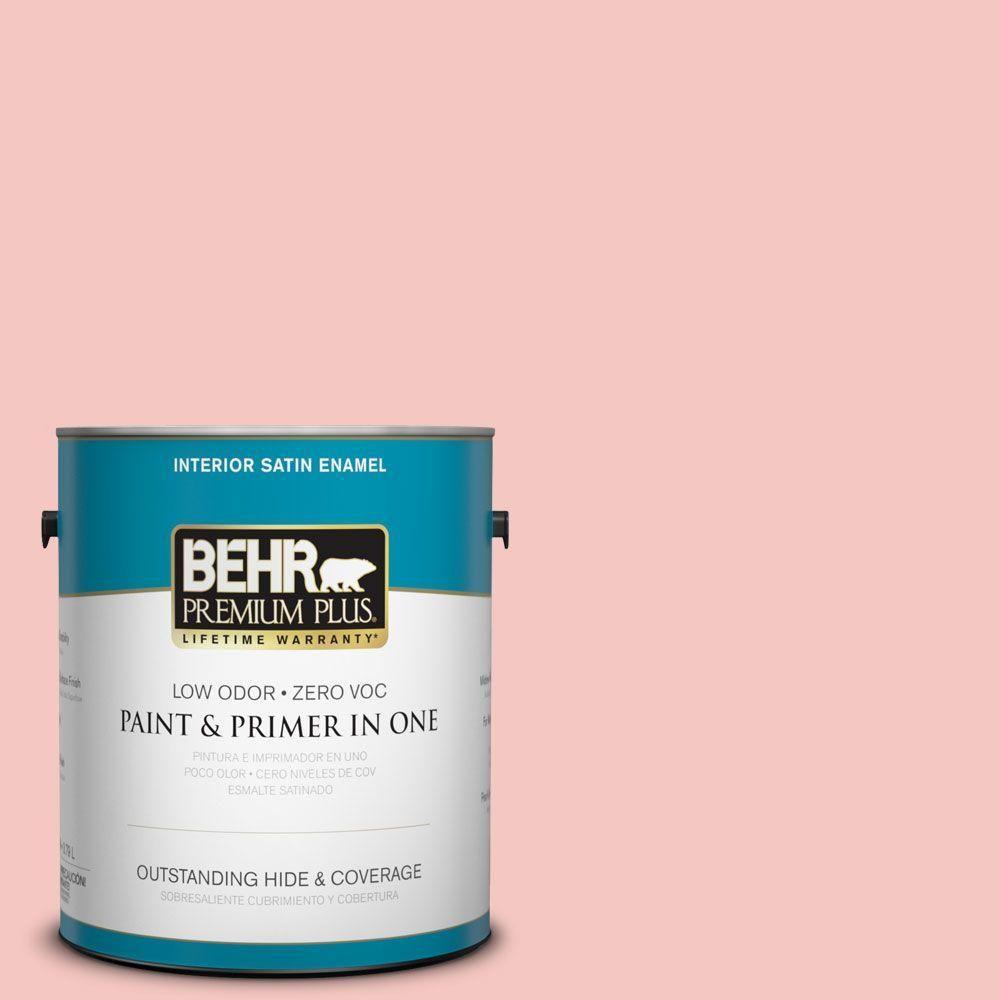 BEHR Premium Plus 1-gal. #M170-2 Prairie Rose Satin Enamel Interior ...