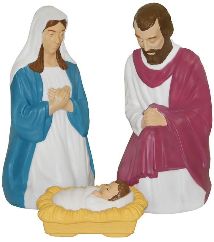 General Foam Plastics Nativity Indoor / Outdoor Christmas Decor 3