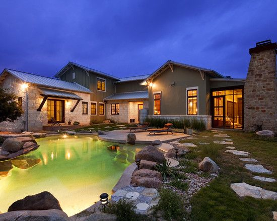 Texas hill country landscape with pool design pictures for Country pool ideas