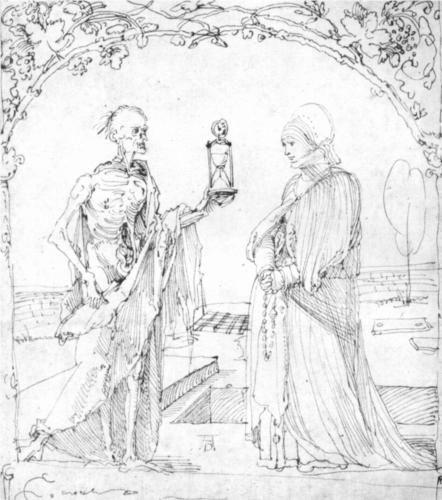 Death and wife - Albrecht Durer