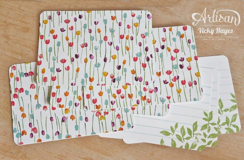 Cards made with the new Painted Blooms papers and coordinating stamp set - Vicky Hayes