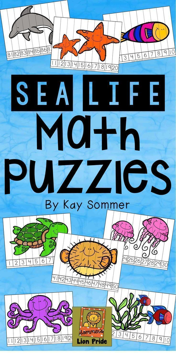 Number counting puzzles {sea life / ocean} great for math centers ...