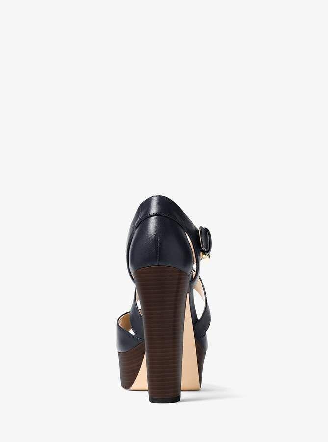 c87cc80c28 MICHAEL Michael Kors Jodi Leather Platform Sandal | Products ...