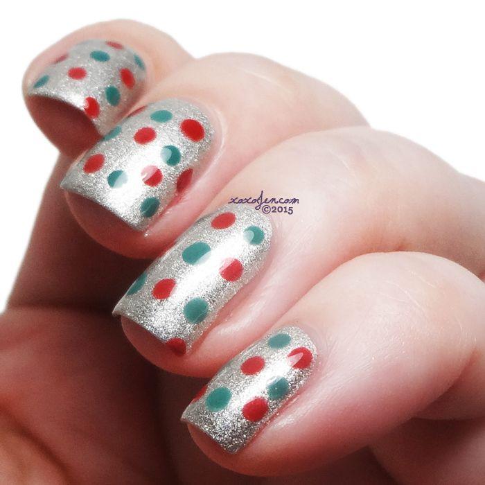 Xoxojens Swatch Of Nail Art Dotticure With Digital Nails Indigo
