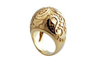 Paisley gold ring