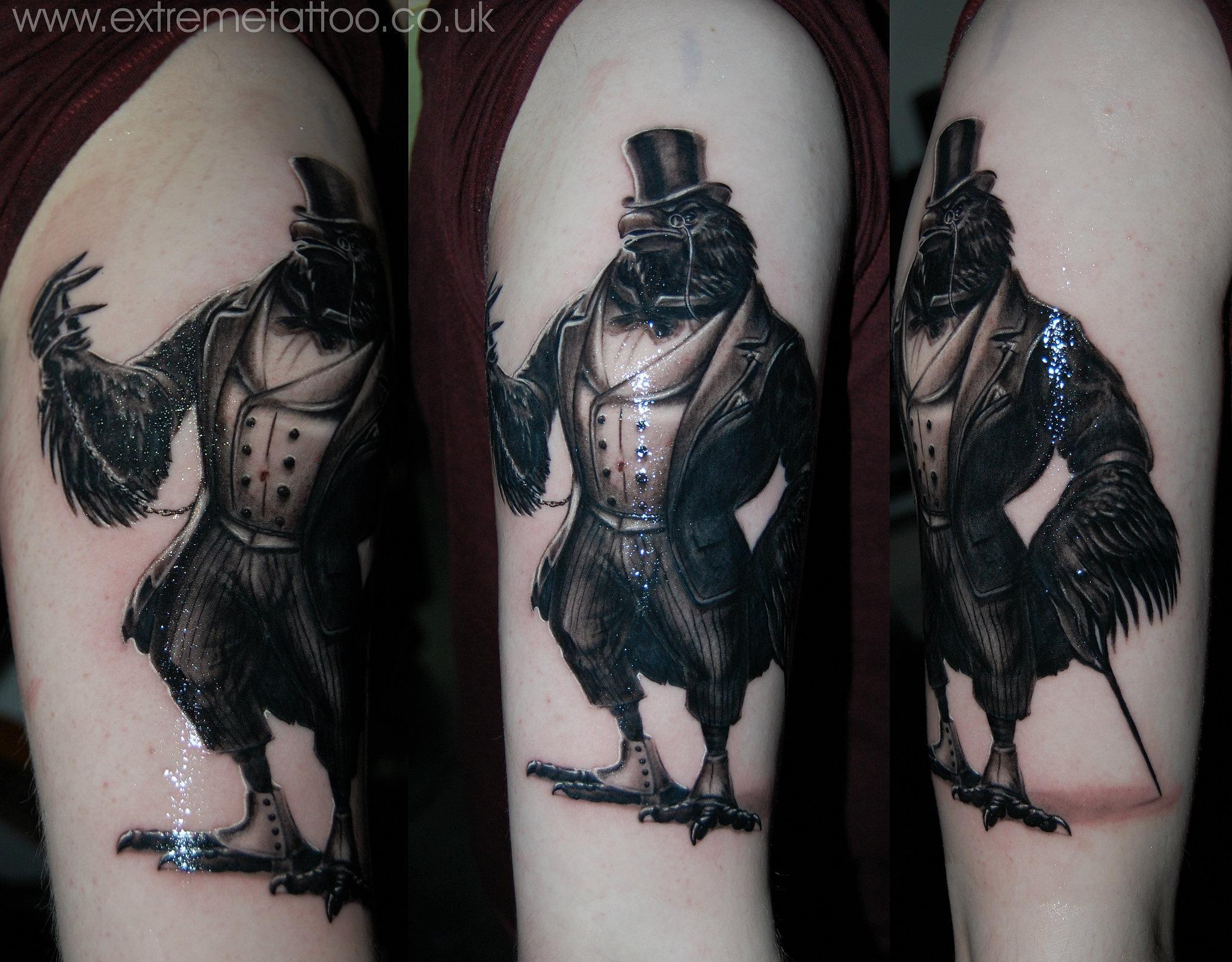 Realistic Fruit Bat Tattoo crow gentleman tattooextreme
