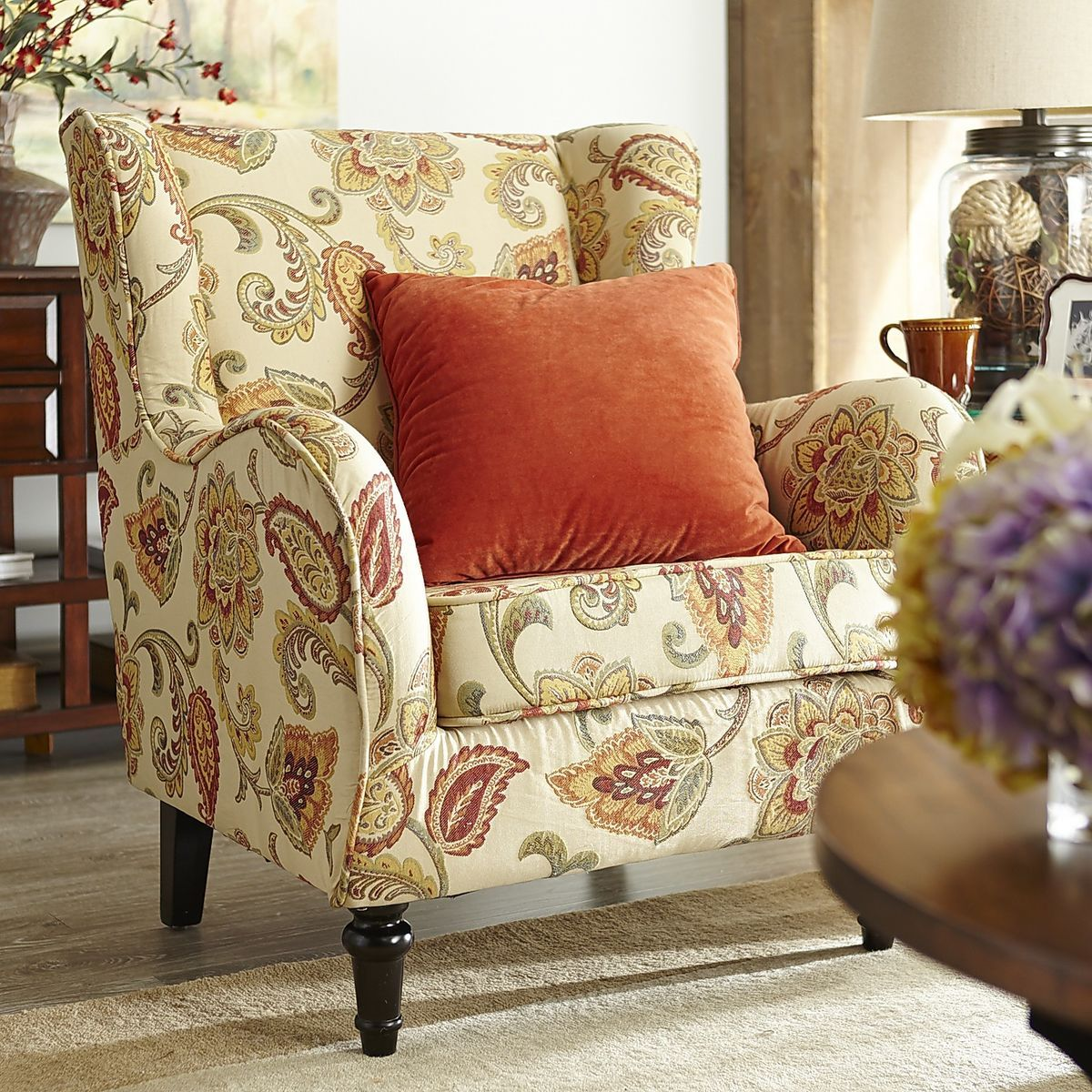 Claudio Wing Chair   Jacobean Ochre | Pier 1 Imports · JacobeanLiving Room  ... Part 90