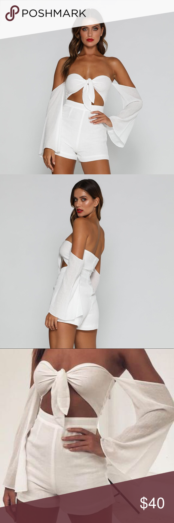 e8aa867b5c Meshki Meera playsuit White Small Brand new with tags. Never worn. Meshki  Dresses Mini