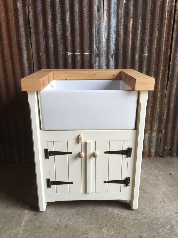 Pine Freestanding Kitchen Handmade Belfast Butler Sink Unit Farmhouse  Rustic In Home, Furniture U0026 DIY, Kitchen Plumbing U0026 Fittings, Kitchen Units  U0026 Sets | ...