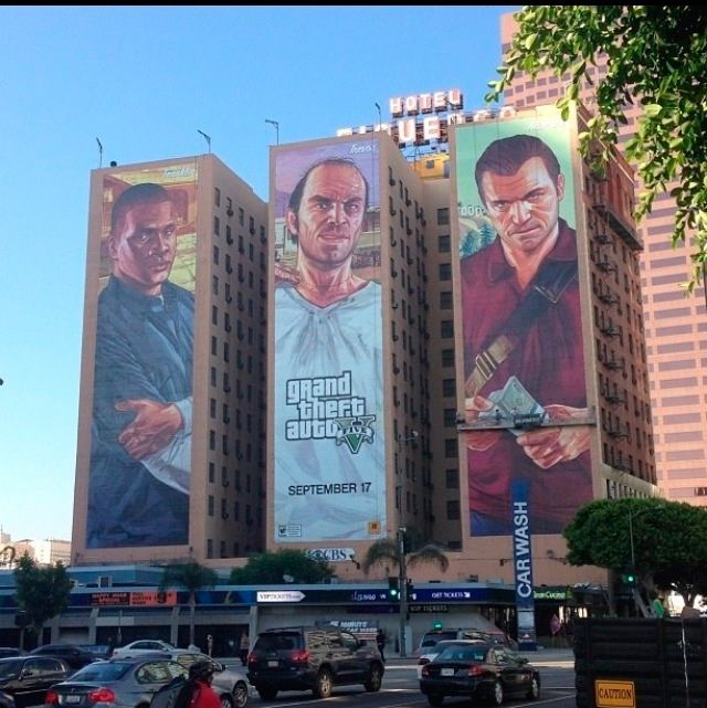 GTA 5 Mural in LA Completed - GTA 5 Cheats | Gta5 | Gta