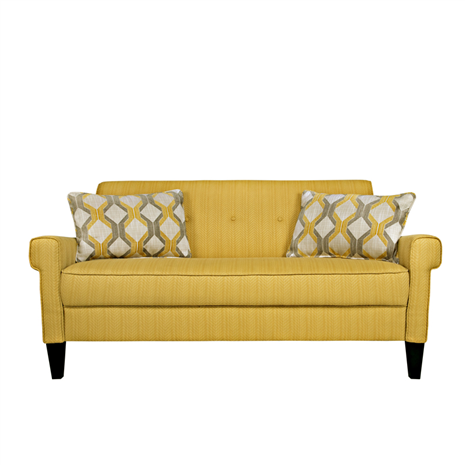 $546 Angelo:HOME Ennis Golden Yellow Groove Sofa   Furniture Store, St.  Louis, Missouri. Phillips Furniture   Life. Meet Style.