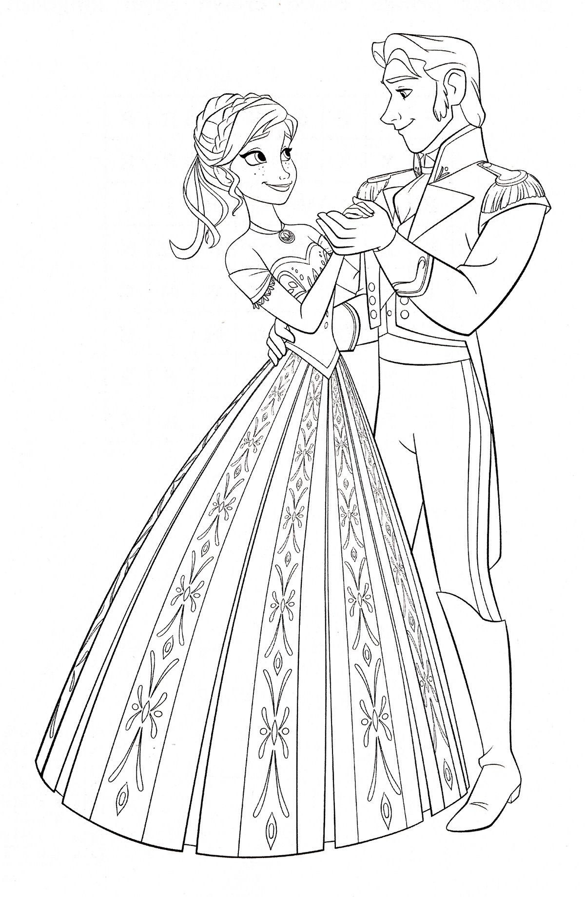 Frozen Coloring Pages Hans Page 2 Of 3 Got Gorgeous Inspiration On ...