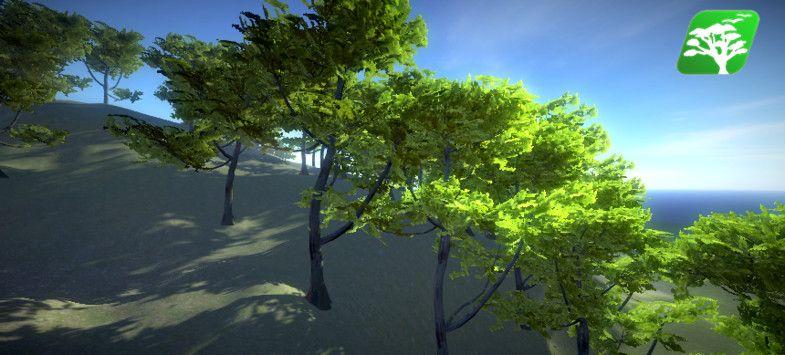rakshigames @unity3d @art Realistic Tree 9 [Rainbow Tree] - Asset