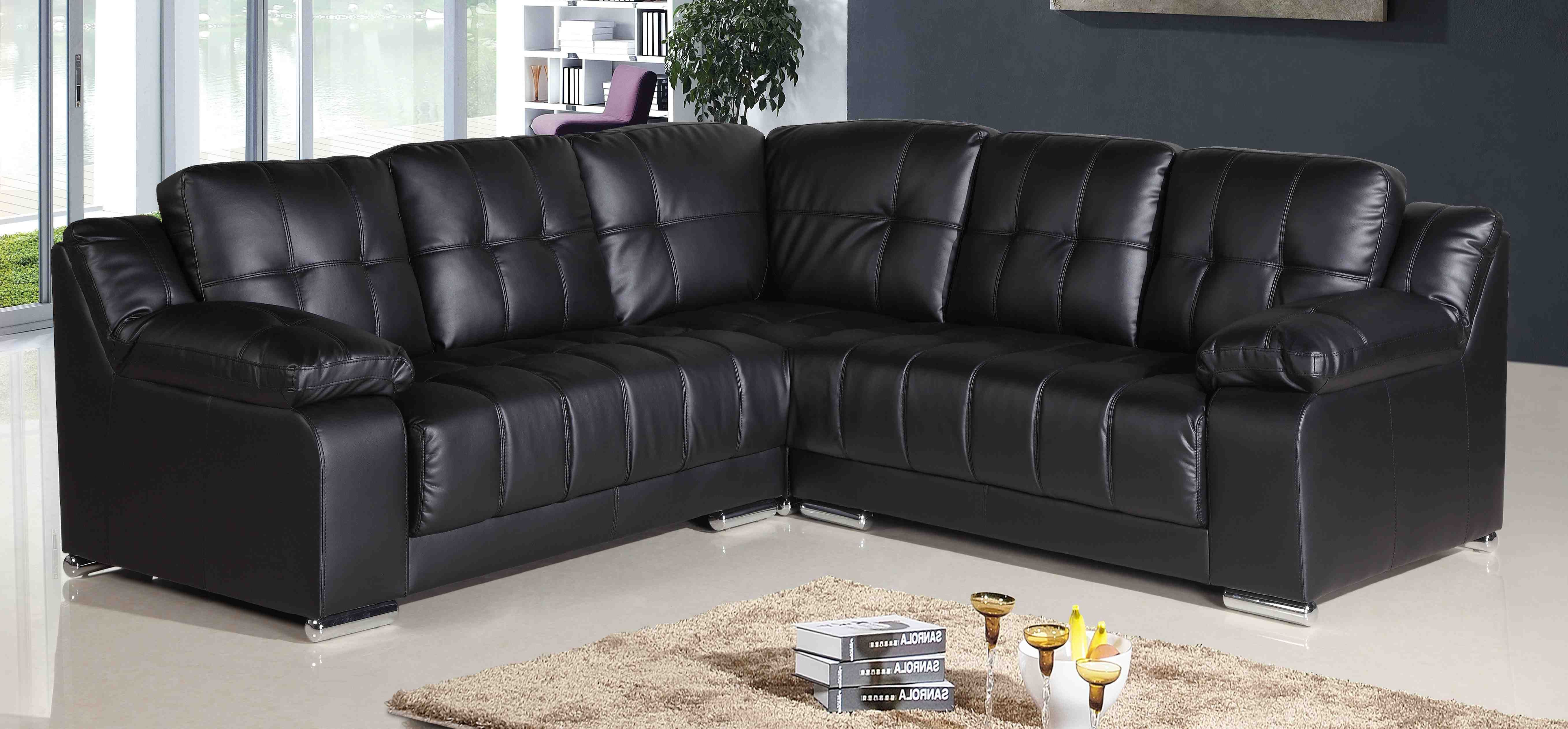 Cheap Leather Corner Sofa For Sale London, Black Leather ...