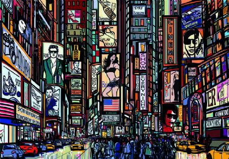 New York Streets Cartoon Wallpaper Murals By Homewallmurals Photo Wallpaper Mural Wallpaper New York Street