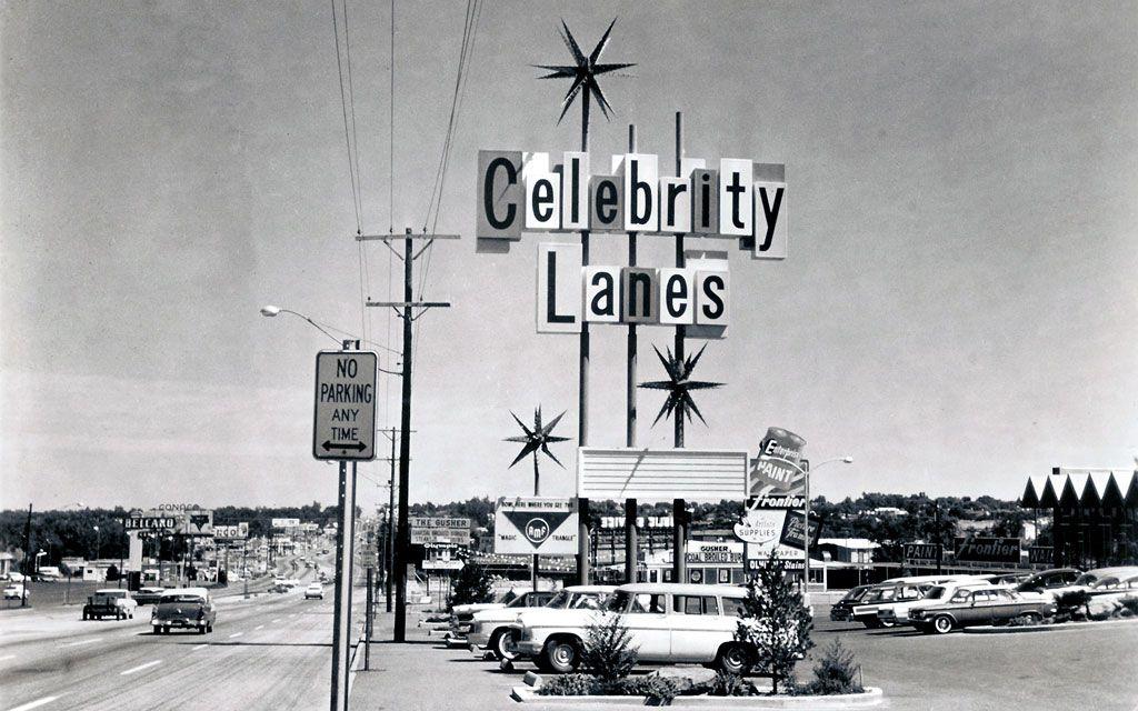 Celebrity Sport Center, Denver, CO, circa 1962. Wagons in