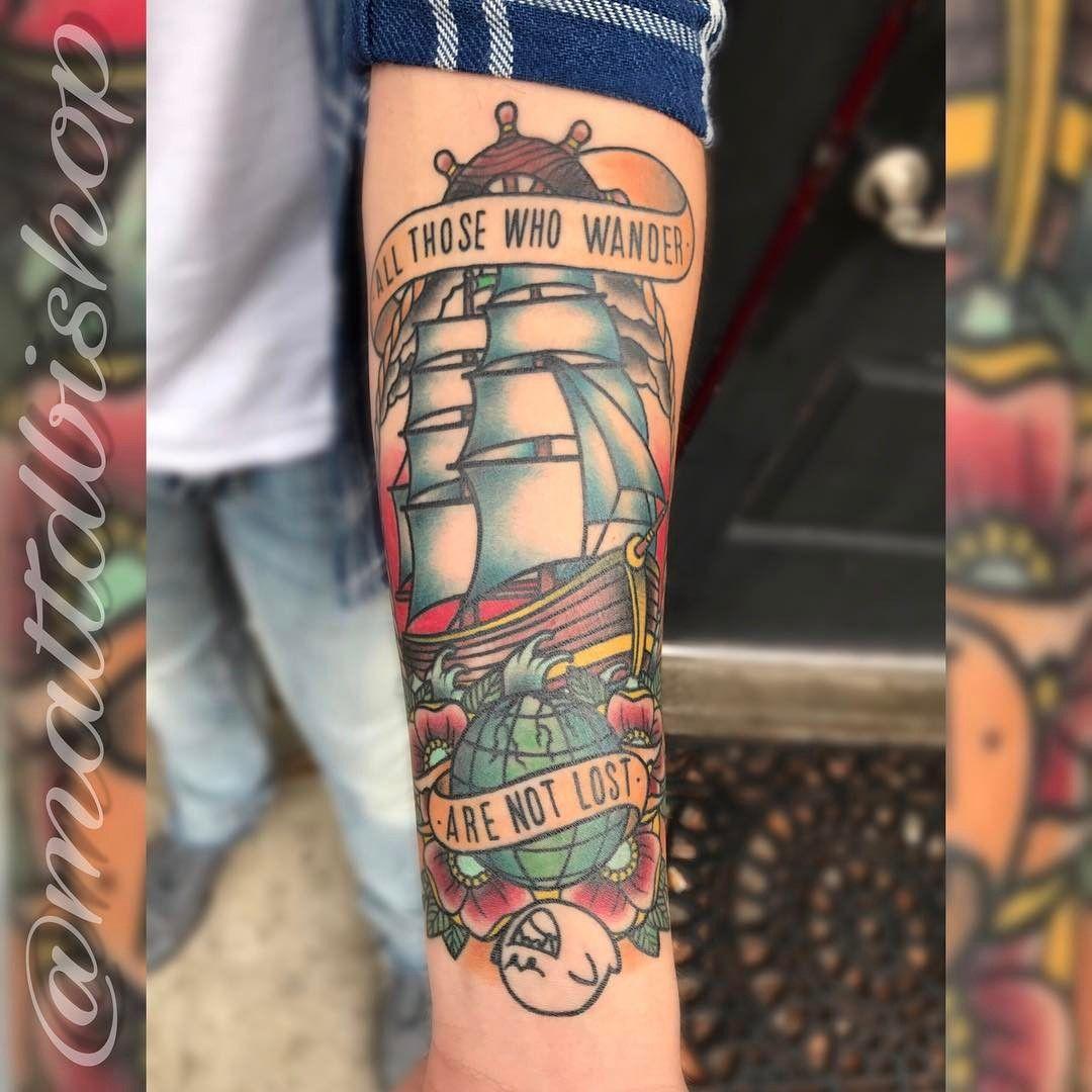 81 Likes 1 Comments Matt Bishop Mattdbishop On Instagram Healed Original Artwork From Parkway Drive Tattoo Ship Tattoo Hip Tattoo Traditional Tattoo