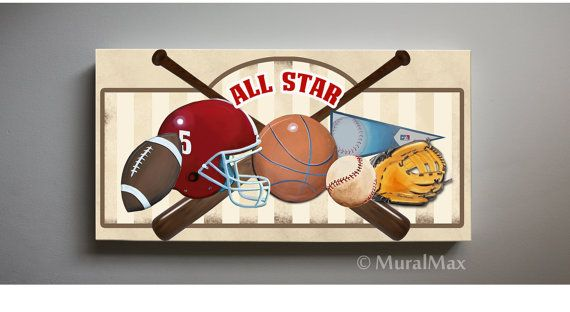 Art For Children Kids Wall Art Sports Canvas Art All By