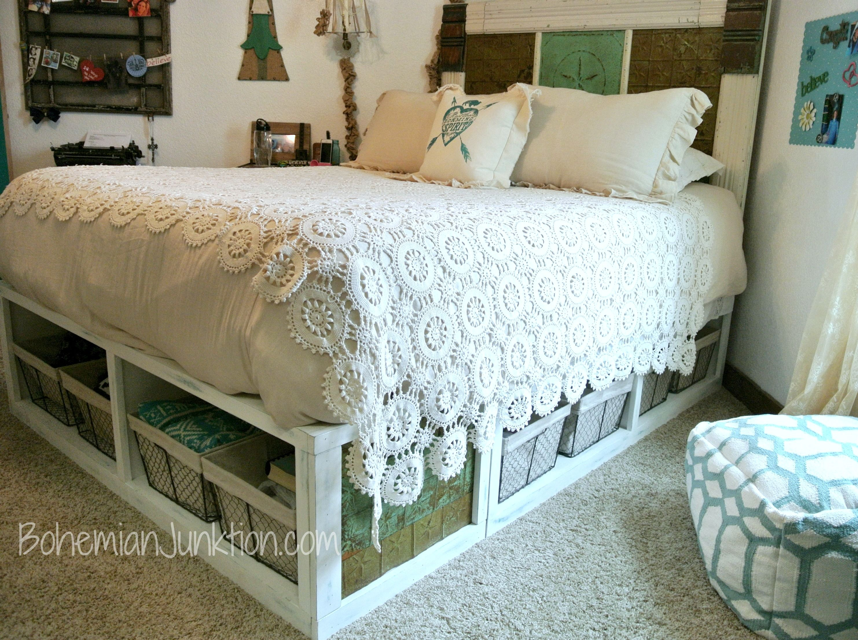 Pottery Barn Stratton Bed Knock Off