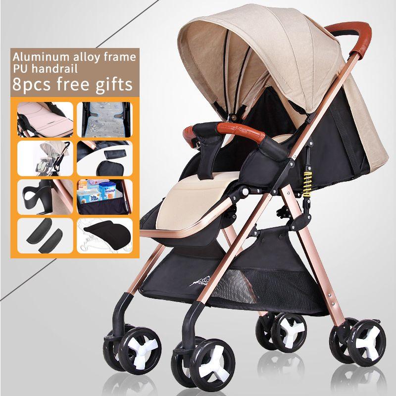 Free shipping Ultra light Baby stroller high landscape