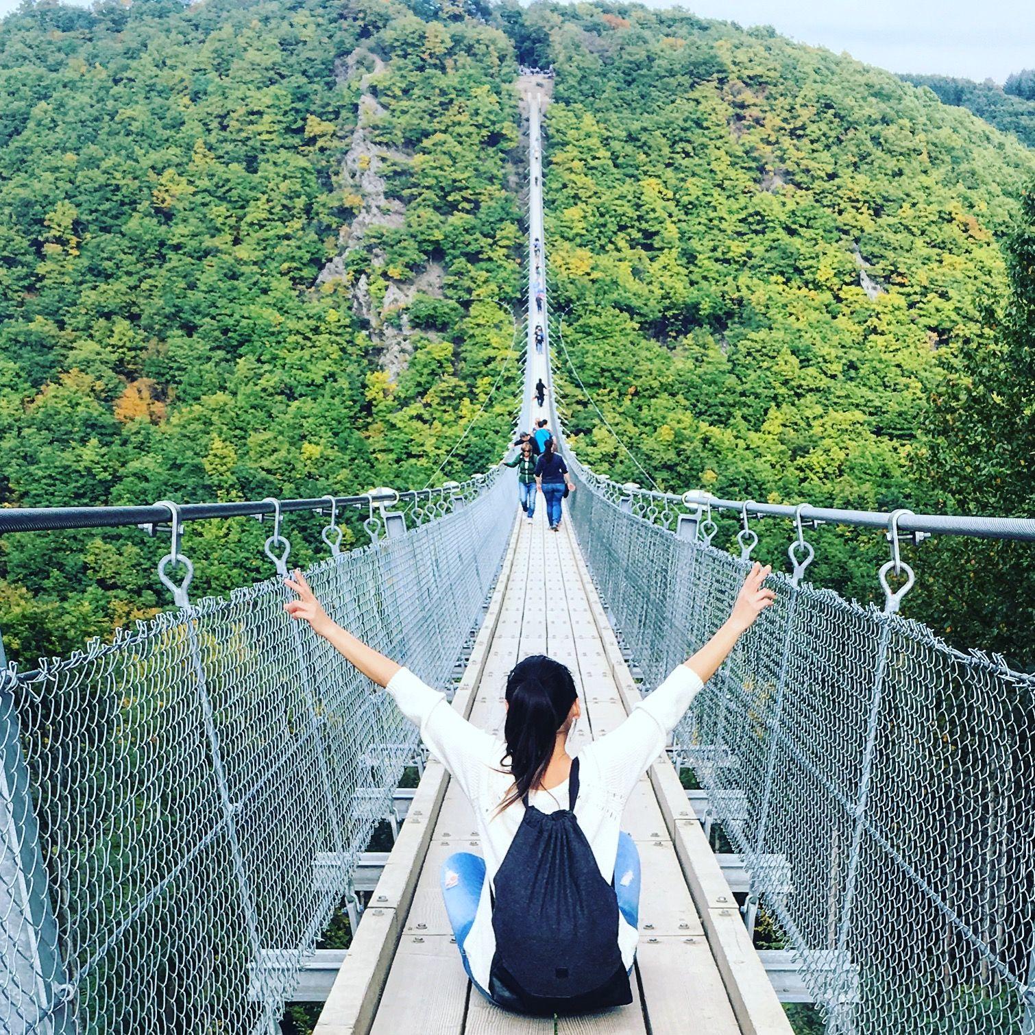 Geierlay bridge  the longest suspension bridge in Germany ...