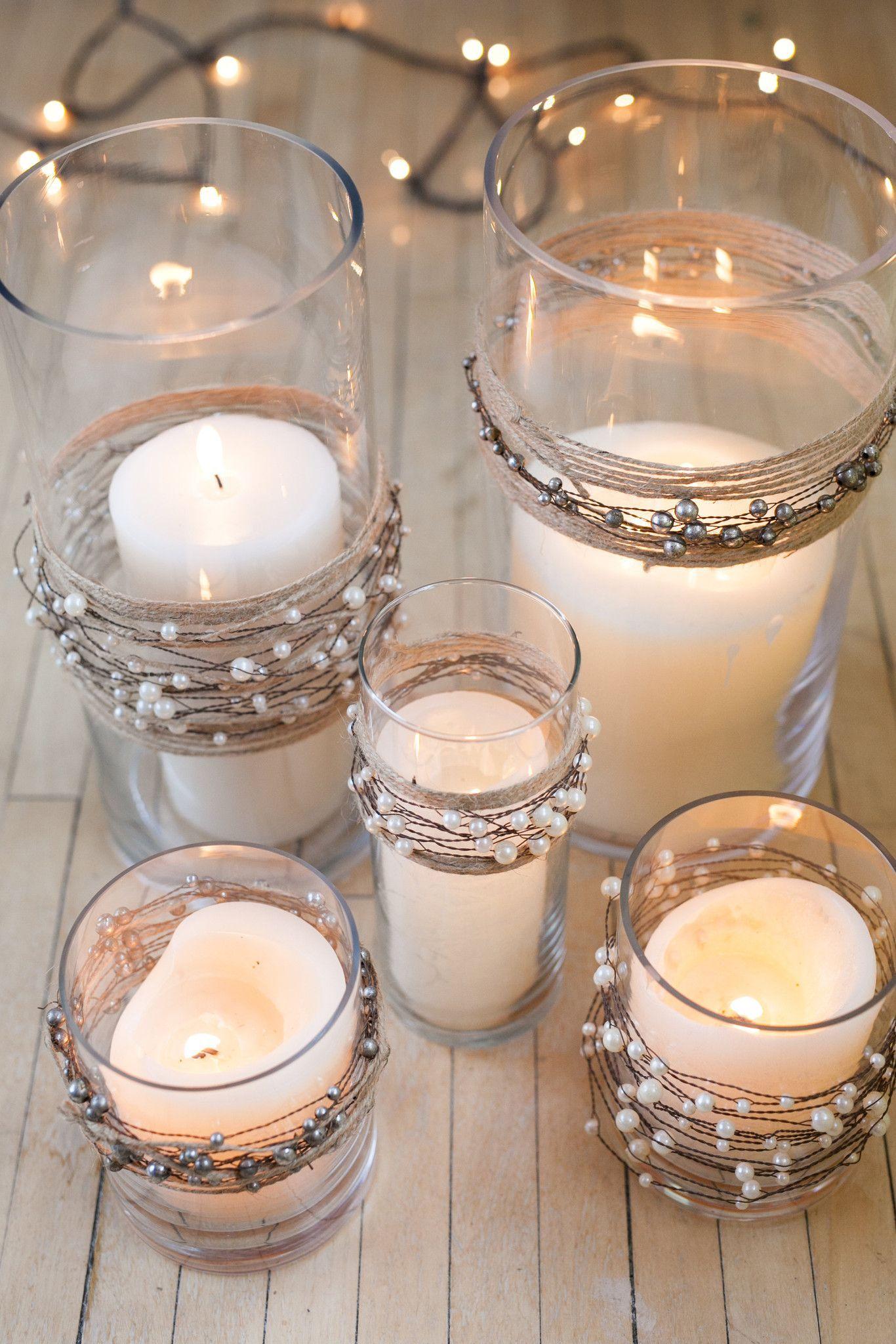 Mercury glass garland garlands beads and weddings