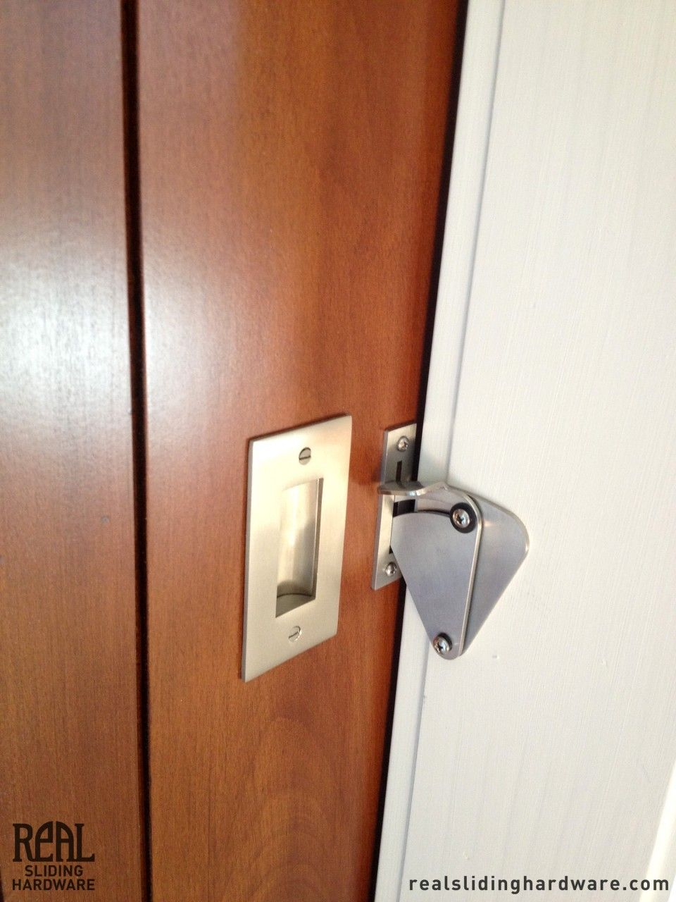 Pocket door bathroom lock - Teardrop Privacy Lock For Sliding Doors