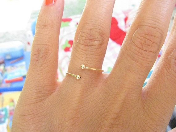 Gold ring Any Size spiral ring thin delicate ring by MoonliDesigns