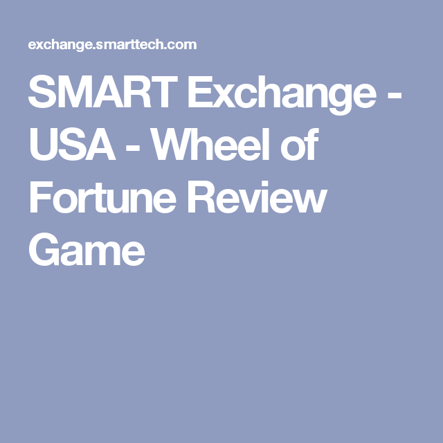 SMART Exchange USA Wheel of Fortune Review Game