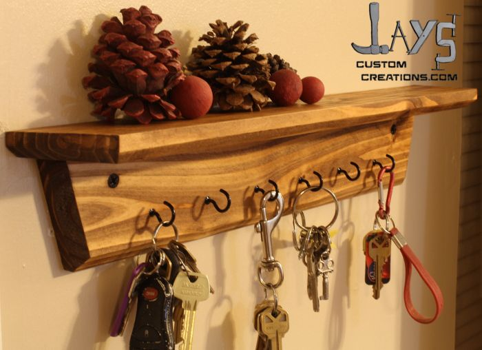 How to make a decorative shelf to hang keys on.