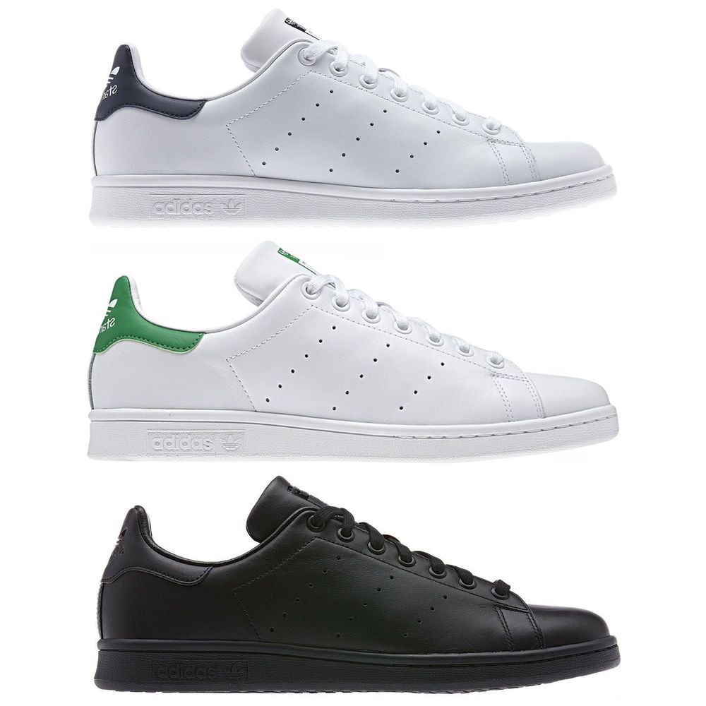 adidas Originals Mens Stan Smith Lace Up Casual Trainers Sneakers Shoes White