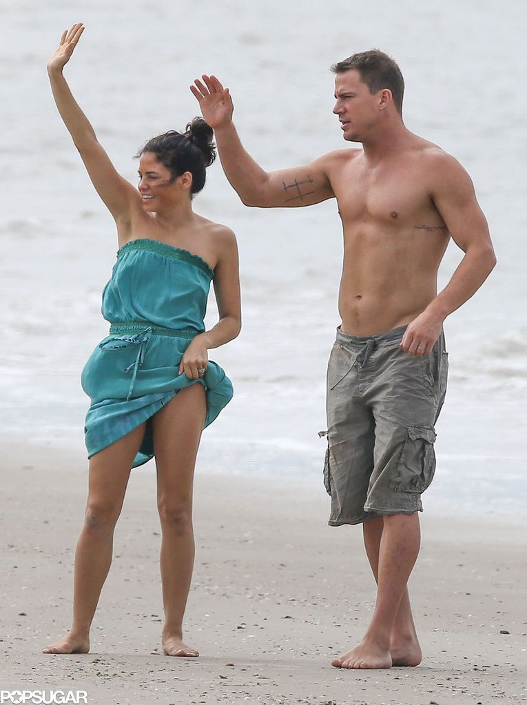 453eacc1 Channing Tatum Flaunts the Fruits of His Magic Mike Labor on the Beach: Channing  Tatum put his shirtless body on display during a day at the beach with his  ...