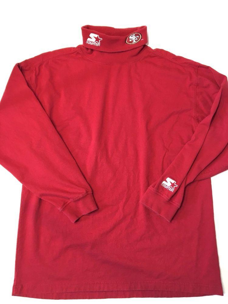 Vintage Starter San Francisco 49ers Turtleneck Shirt Embroidered NFL Mens XL